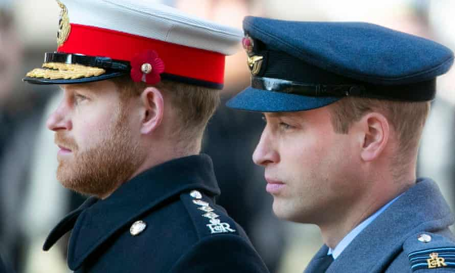 Prince William (right) expressed sadness at the rift with his brother.