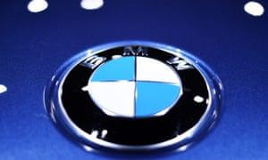 BMW logo on a car