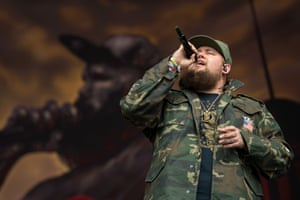 Rory Graham, known as Rag'n'Bone Man, performs on the Other Stage