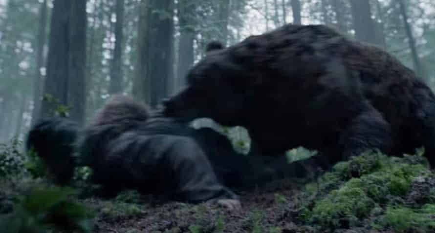 The bear attack scene from The Revenant.