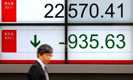 FTSE 100 falls in second day of global market turbulence
