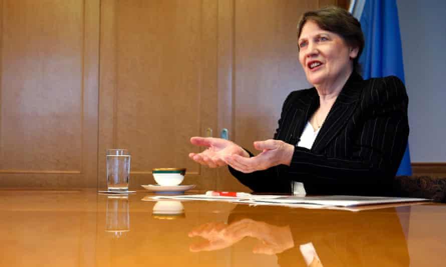Helen Clark, head of the UN Development Programme and former New Zealand prime minister