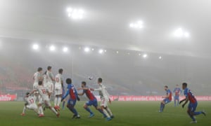 Crystal Palace's Luka Milivojevic shoots at goal from a free kick.