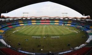 The Jawaharlal Nehru international stadium in Kochi.