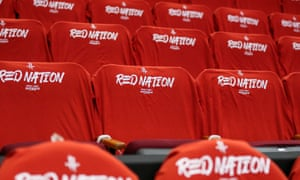 General view of Rockets shirts on seats