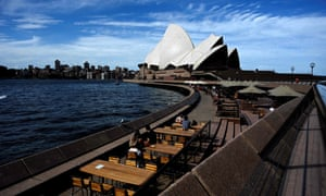 View of the Sydney Opera House from Sydney Harbour.