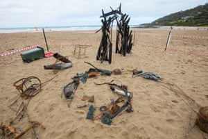 A sculpture-in-the-works situated on the Wye river and made from charred remnants of a 2015 bushfire. The piece is being directed by Shoso Shimbo with the support of the community