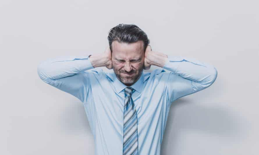 A man suffering from tinnitus.