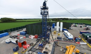 The Cuadrilla site near Blackpool in Lancashire, where hydraulic fracturing operations have been suspended.