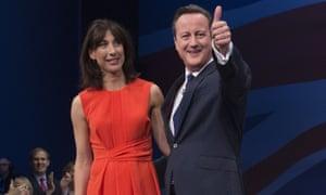 David Cameron and wife Samantha