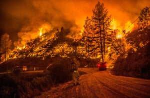 Fire crews ran night operations and controlled burnings to contain the Butte fire in Sheep Ranch