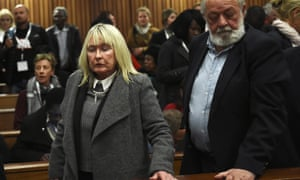 June and Barry Steenkamp after the sentencing.
