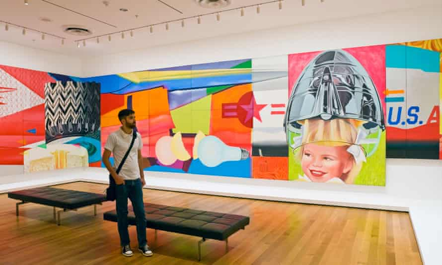 Part of James Rosenquist's 25-metre, 51 panel painting F-111 at the Museum of Modern Art in New York in 2006.