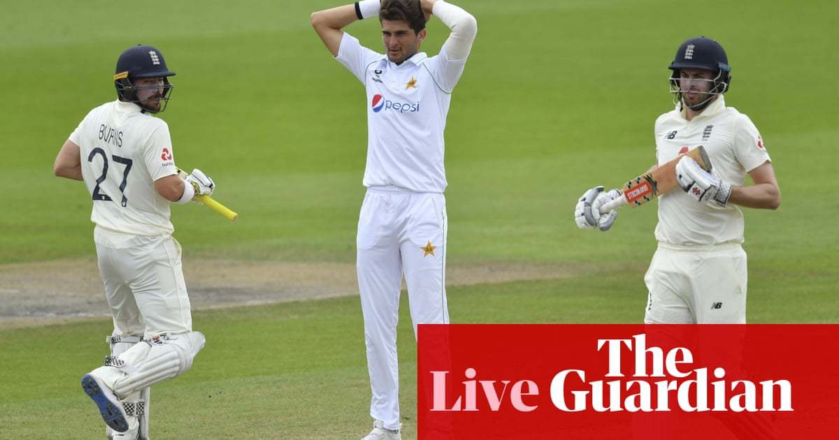 England need 277 to win first Test against Pakistan: day four – live!
