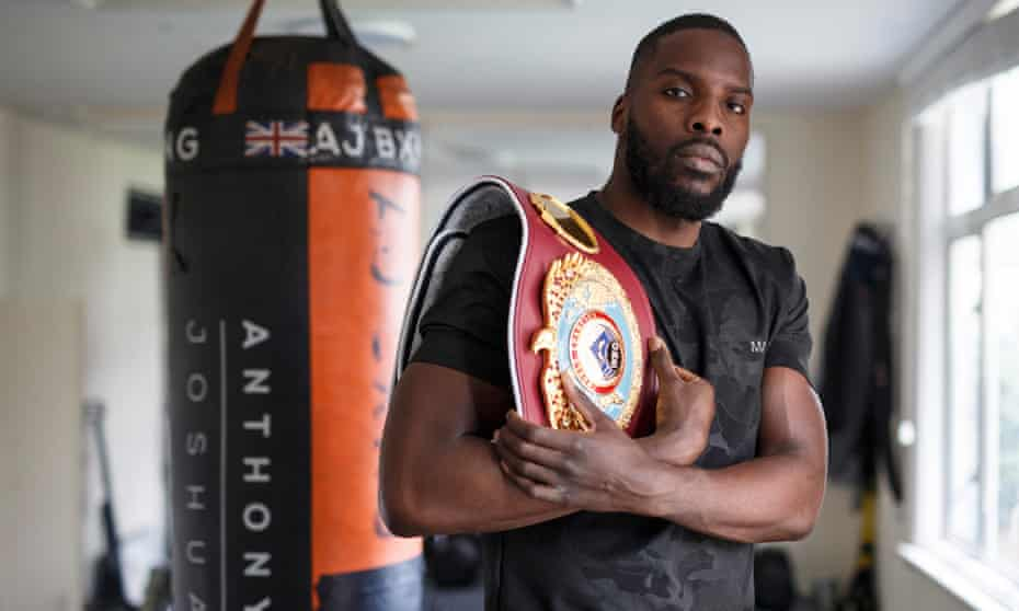 Lawrence Okolie with his WBO cruiserweight belt