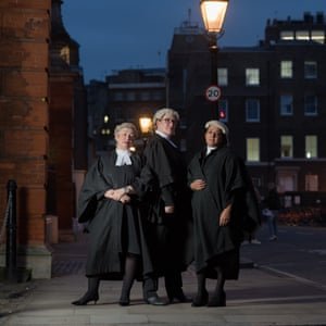 Clare Wade, Amanda Weston and Sonali Naik photographed outside their chambers in Lincoln's Inn Fields, London.