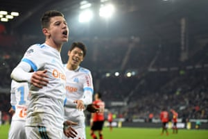 Florian Thauvin has has nine assists and nine goals in Ligue 1 this season after another match-winning display for Marseille.