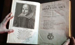 A portrait of William Shakespeare is seen in the Third Folio