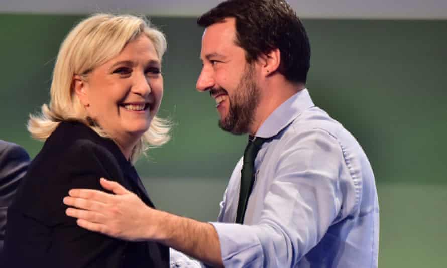 Matteo Salvini with Marine Le Pen