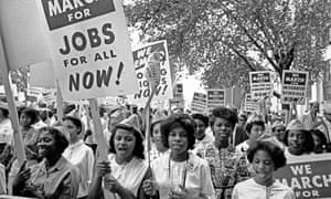 Young African American women at the March on Washington, 1963