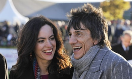 Ronnie and Sally Wood, who had twin girls in 2016. 'The older a father is, the richer he's likely to be.'