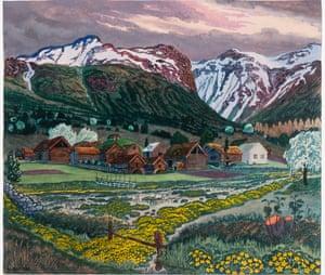 Marsh Marigold Night, circa 1915, by Nikolai Astrup