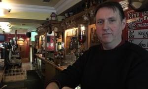 Michael McCourt, owner of the King Bruce Tavern in Dundalk.