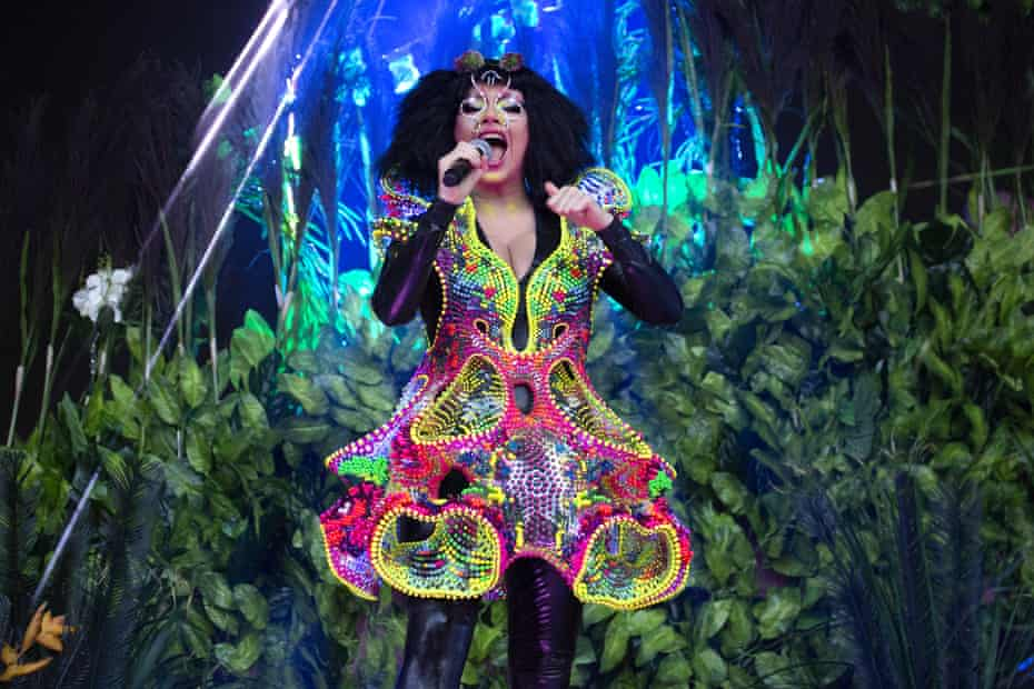 Björk at the Eden Project in Cornwall.