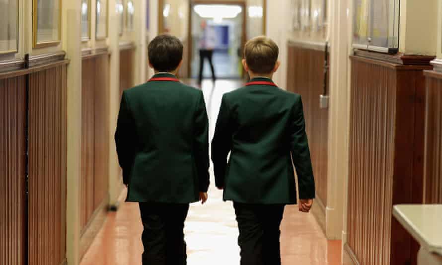 Pupils at Altrincham grammar school for boys, September 2016