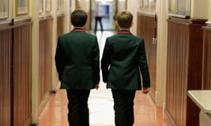 Two boys at a grammar school