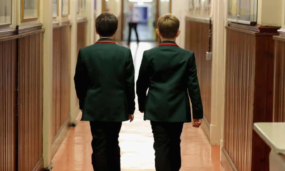 Two boys at a grammar school