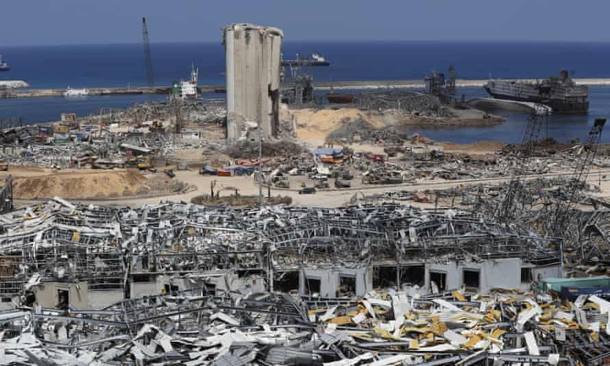 Beirut port blast site