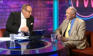 This Week presenter Andrew Neil with Ken Livingstone.