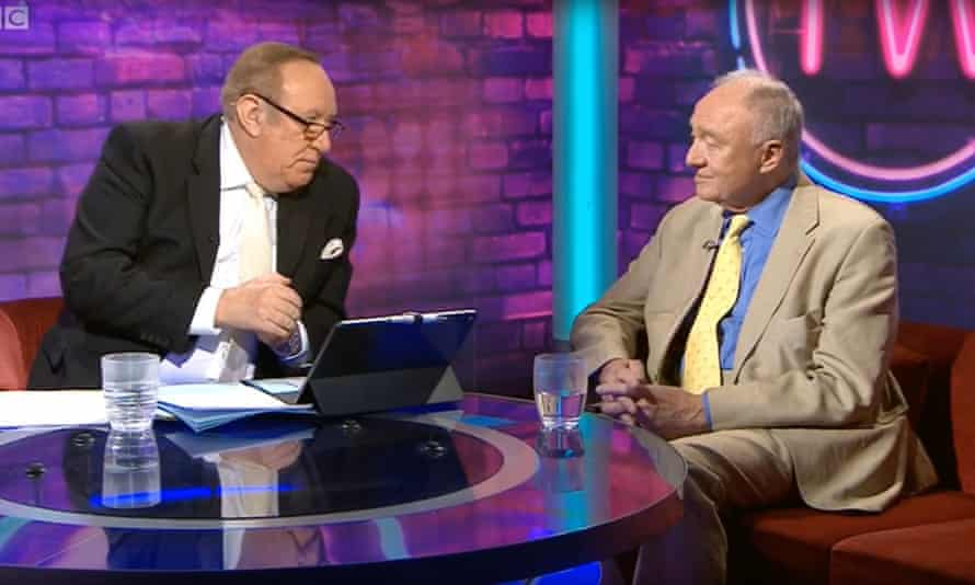 This Week presenter Andrew Neil with Ken Livingstone.