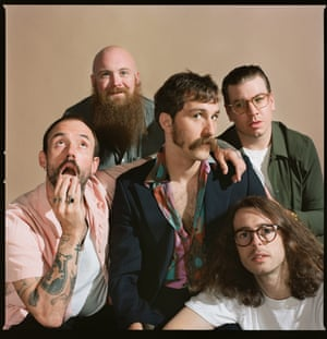 Idles, photographed in London for an interview about their new album, Ultra Mono.