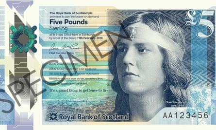 Nan Shepherd on the new £5 note