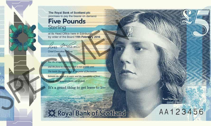 Nan Shepherd on a Scottish bank note