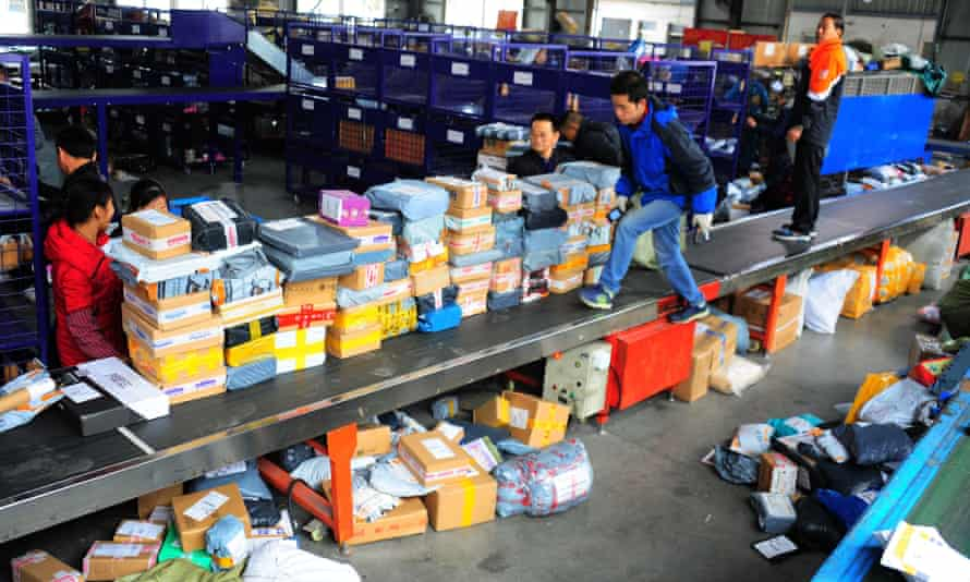 In China's Jiangsu province packers get ready for Singles' Day.