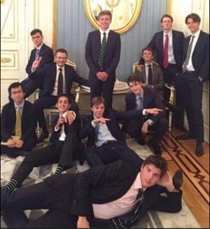 Eton schoolboys at the Kremlin
