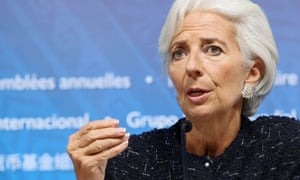 IMF chief Christine Lagarde at the 2015 IMF and World Bank annual meetings in Lima on Friday.