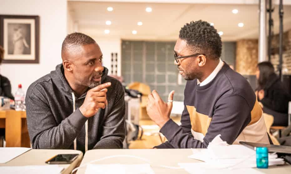 'Let's do this' … Idris Elba and Kwame Kwei-Armah.