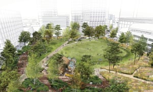 The park in the Canada Water/Surrey Quays regeneration masterplan.