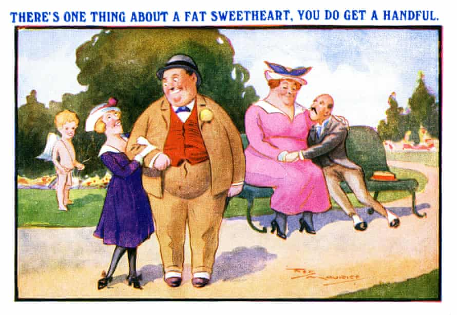 A 1900s Edwardian saucy postcard by the artist Reg Maurice.