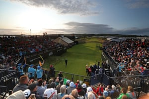 Northern Ireland's Darren Clarke tees off the 1st to start day one of The Open Championship 2019.