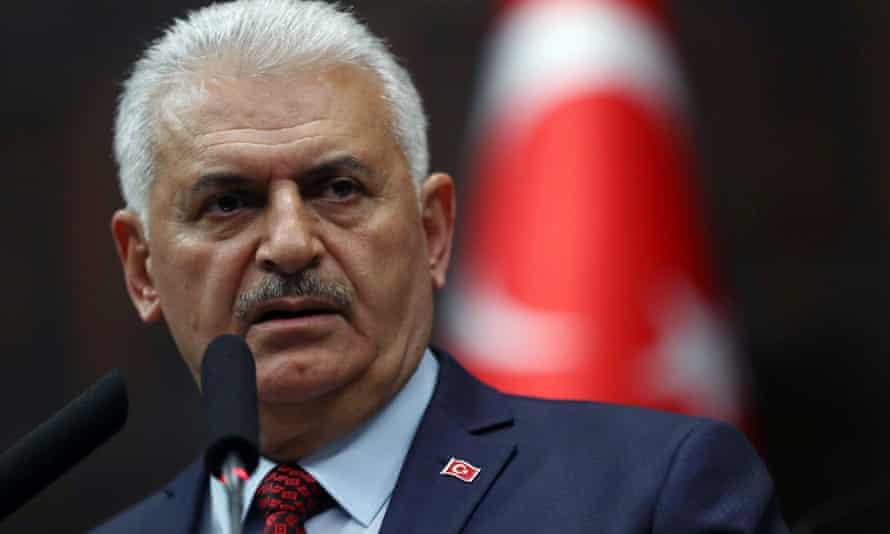 Turkey's prime minister Binali Yıldırım