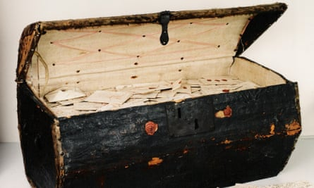 The trunk in which the letters were kept