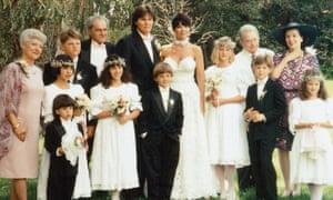 Bruce Jenner and Kris Kardashian's wedding day in 1991.