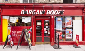 A Bargain Booze store in Warminster, Wiltshire.