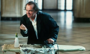 Jack Nicholson ironing in The Witches of Eastwick.