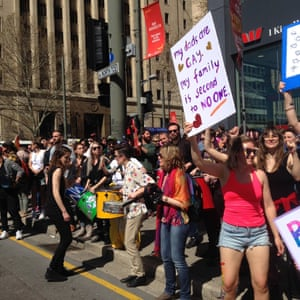 Equality advocates in Adelaide hold a joyous street party to drown out no campaigners